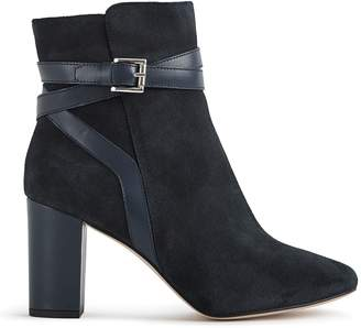 Reiss ENRICA SUEDE BUCKLE DETAIL BOOTS Navy