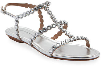 Aquazzura Tequila Jeweled Strappy Sandals