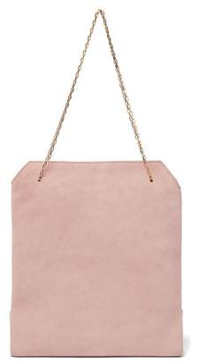 The Row Lunch Bag Suede Clutch - Womens - Light Pink