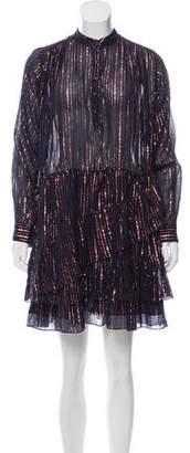 Ulla Johnson Della Lurex Long Sleeve Mini Dress w/ Tags