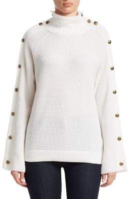Ralph Lauren Long-Sleeve Button Cashmere Sweater