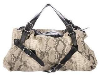 Foley + Corinna Embossed Leather Handle Bag