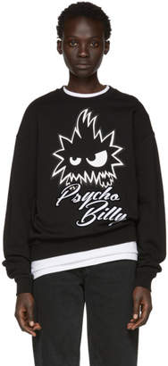 McQ Black Psycho Billy Slouch Sweatshirt