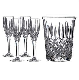 Royal Doulton Champagne Set: Ice Bucket & 4 Flutes