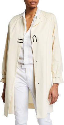 Akris Bago Magnet-Front Cotton Gabardine Coat