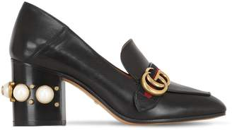 Gucci 75mm Embellished Leather Pumps