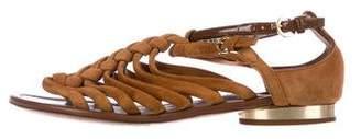 Louis Vuitton Suede Multistrap Sandals
