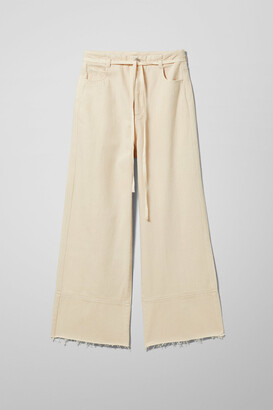 Weekday Slack Ecru Jeans - Beige