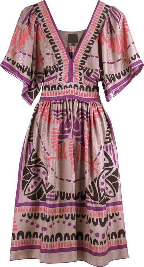 Anna Sui Phoenix deco print dress