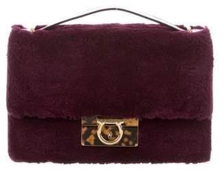 Salvatore Ferragamo Aileen Fur-Trimmed Shoulder Bag