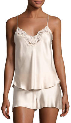 Christine Designs Bijoux Silk Satin Cami & Short Pajamas Set