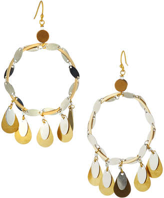 Nakamol Teardrop Fringe Circle Drop Earrings