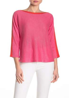 Eileen Fisher Bateau Neck Organic Cotton Sweater (Petite)