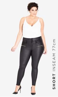 City Chic Citychic Skylar Short Coated Corset Skinny Jean