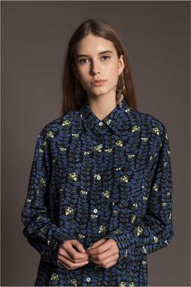 Sonia Rykiel Silk Large Boughs Of Kisses Shirt