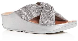 FitFlop Women's Twiss Crystal Platform Wedge Slide Sandals