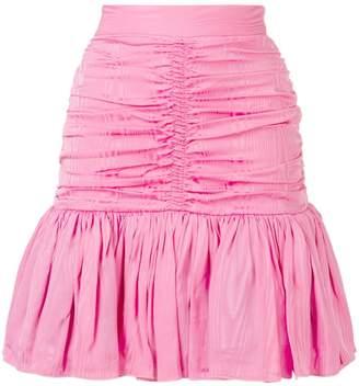 MSGM ruched flare mini skirt