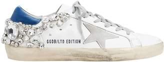 Golden Goose Superstar Crystal Embellished Low-Top Sneakers