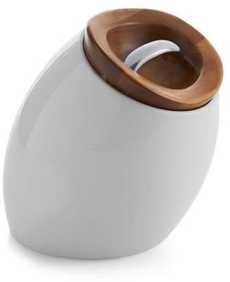 Nambe White/Brown Hava Cookie Jar
