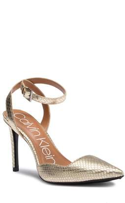 Calvin Klein Raffaela Snake Embossed Wrap Around Stiletto