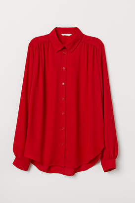 H&M Long-sleeved Blouse - Red