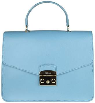 Furla Handbag Metropolis M Bag In Textured Leather With Removable Handle And Shoulder Strap