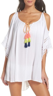Women's Surf Gypsy Cold Shoulder Cover-Up Tunic