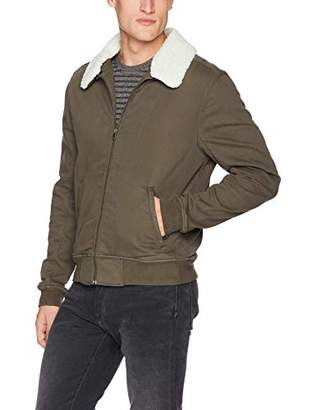 Paige Men's Kinley Stretch Bomber Jacket with Removable Shearling Collar