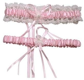 Bhwin Women's Lace Wedding Garter 2 Pieces Set Wedding Bridal Garter