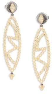 Freida Rothman Marquise Cutout Drop Earrings
