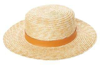 LACK OF COLOR New Women's Spencer Terracotta Straw Hat Soft Leather Natural S