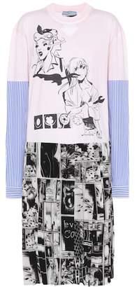 Prada Printed cotton and silk dress