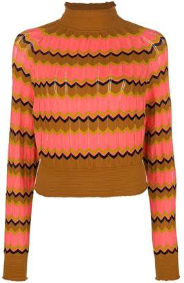 M Missoni zig-zag turtleneck sweater