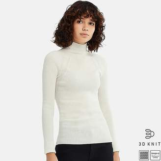 Uniqlo Women's U 3d Extra Fine Merino Ribbed Sweater