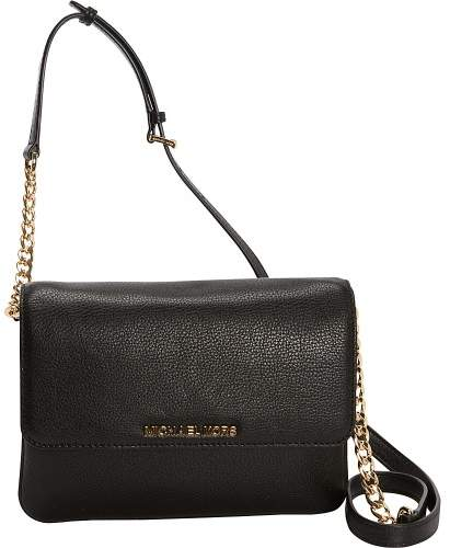Michael Kors MICHAEL Bedford Small Flat Crossbody - BLACK - STYLE