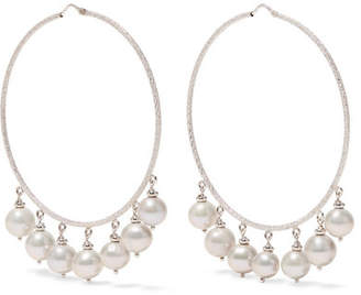 Carolina Bucci Recharmed 18-karat White Gold Pearl Hoop Earrings