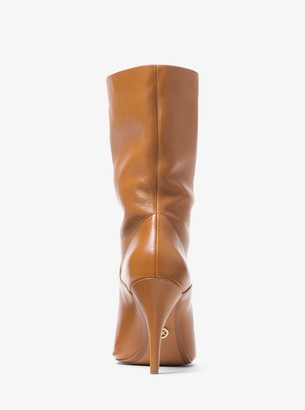 MICHAEL Michael Kors Elaine Leather Open-Toe Boot