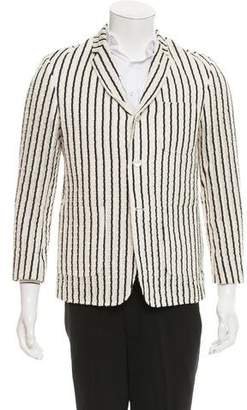 Black Fleece Striped Three-Button Sport Coat