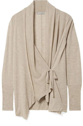Vince Draped Wool And Cashmere-blend Cardigan - Sand