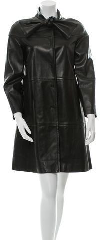 ValentinoValentino Paneled Leather Coat w/ Tags