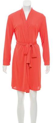 Natori Wrap Mini Dress