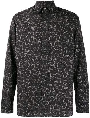 Tom Ford abstract leopard print shirt