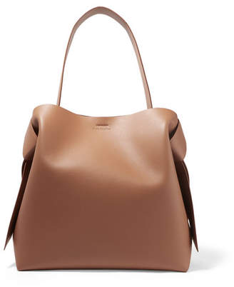 Acne Studios Musubi Large Knotted Leather Shoulder Bag - Camel