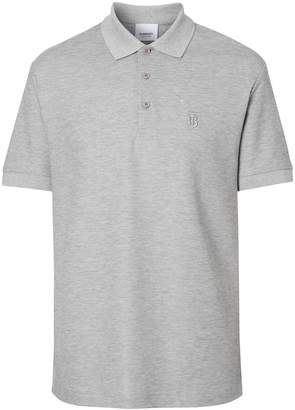 Burberry Monogram Motif Cotton Piqué Polo Shirt