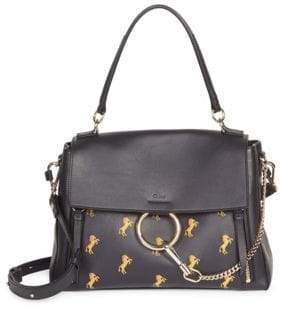 Chloé Medium Faye Little Horses Embroidered Leather Bag