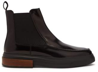Tod's Patent Leather Chelsea Boots - Womens - Black