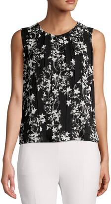 Calvin Klein Sleeveless Floral Printed Top