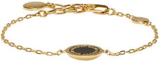 Marc Jacobs Gold Enamel Logo Disc Bracelet