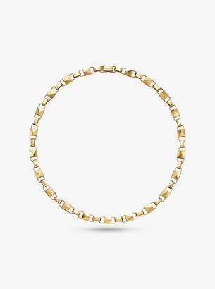 Michael Kors Precious Metal-Plated Sterling Silver Mercer Link Necklace
