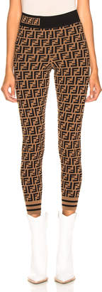 Fendi Logo Print Leggings